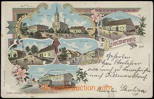57857 - 1901 Dětmarovice (Dziećmorowice) - litografická koláž,