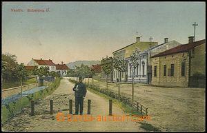 57859 - 1916 Vsetín - Bubelova třída s postavou pošťáka v pop�