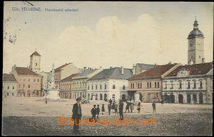 57862 - 1918 Uherské Hradiště - náměstí s postavami; prošlá,
