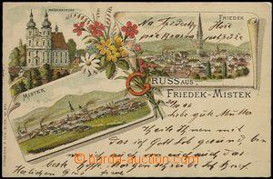 57874 - 1896 Frýdek-Místek (Friedek-Mistek) - litografická kolá�