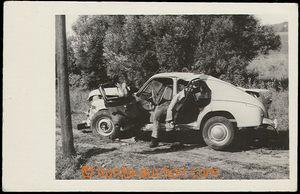 57876 - 1955 GAZ - Poběda, bouraný, inscenace havárie včetně řidičov