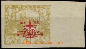 57890 - 1920 Pof.170Nc, Hradčany 40h, s přítiskem, nezoubkovaná,