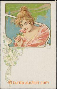 57892 - 1905 secesní litografická koláž; nepoužitá, dobrý sta