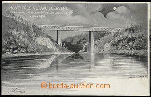 57901 - 1910 ČERVENÁ (PI), most přes Vltavu, nejsmělejší žele