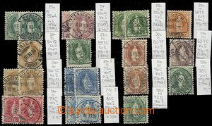 57902 - 1882-1907 selection of 22 pcs of stamps Standing Helvetia, e