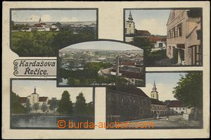 57904 - 1930 Kardašova Řečice - 5-views, brewery; Us, light stain