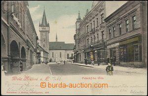 57907 - 1903 Dvůr Králové n./L. - Palacky Street with shops; long
