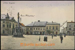 57909 - 1915 Litovel (Littau) - náměstí, postavy; prošlá, útva