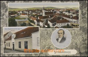 57915 - 1913 Strakonice - 3-views collage, general view, birth house