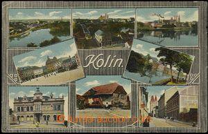 57919 - 1910 Kolín - 8-okénková; prošlá, odřené růžky