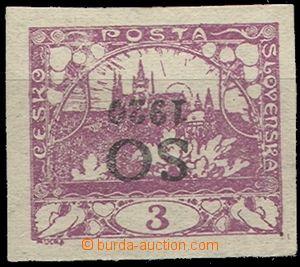 57925 -  Pof.SO2 Pp, převrácený přetisk na 3h fialové, zk. Kar.