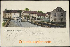 57944 - 1902 Lochovice - view from bridge; long address, Us, broken