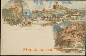 57947 - 1896 lithographic postcard with pre-printed stmp 2 Kreuzer i