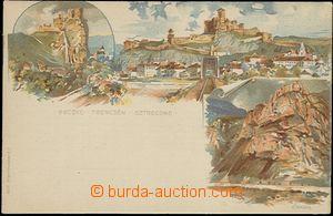 57947 - 1896 litografická pohlednice s předtištěnou známkou 2kr