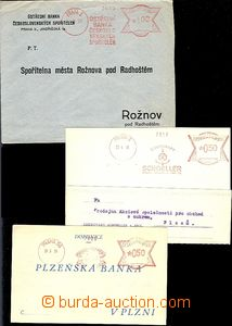57955 - 1939 comp. 3 pcs of entires with Czechosl. frankotypes Ringh