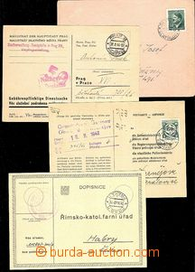 57957 - 1940-45 comp. 4 pcs of official printed-matters, from that 1