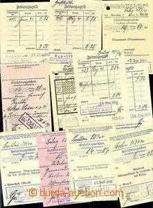 57959 - 1940-41 sestava 13ks ústřižků poštovních poukázek a s