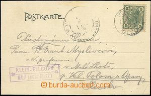 57988 - 1906 postcard sent from Bledu to Silesia with arrival CDS VE