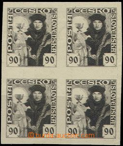 58016 - 1920 Pof.163ZT, Hussite-issue, block of four, imperforated,