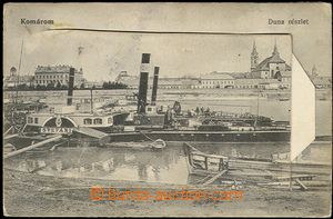 58025 - 1910 Komárno (Komárom) - postcard with picture port, with