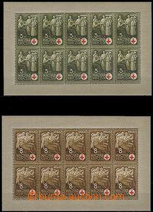 58034 - 1942 Mi.691-94 Červený kříž, 10-bloky, pěkná kvalita,
