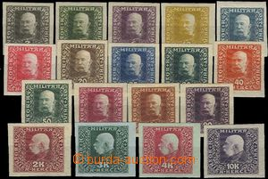 58046 - 1916 Mi.99-116, imperforated PLATE PROOF in original colors,