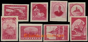 58067 - 1918 partie 8ks různých návrhů známek, např. TGM, Karl