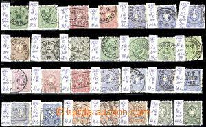58081 - 1875-80 sestava 28ks známek číslice a orlice, od č.31a d