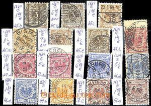58083 - 1889 Mi.45-50 číslice a orlice, sestava 15ks známek vč.