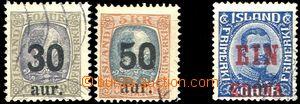 58091 - 1925-26 Mi.112-13+121, přetiskové, zachovalé, kat. 100€