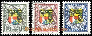 58092 - 1927 Mi.75-77  87. narozeniny knížete, zachovalé, kat. 70€