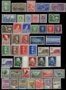 58096 - 1939-49? sestava 60ks známek, několik kusů s lehčí stopou po