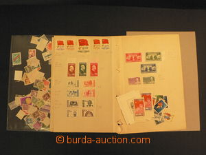 58120 - 1930-55 CHINA  comp. of stamps on sheet notebook A4 and part