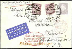 58144 - 1930 DEUTSCHLAND (GERMANY)  letter forwarded by airship GRAF
