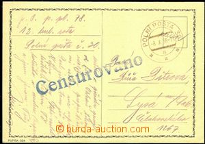 58167 - 1938 card sent with postmark FP 30a/ 8.X.38, big straight li