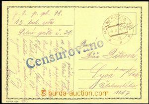 58167 - 1938 lístek odeslaný s razítkem PP 30a/ 8.X.38, velké ř
