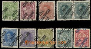 58177 -  Pof.34-47, comp. 10 pcs of with significant shifted overpri
