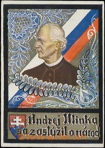58179 - 1940 HLINKA Andrej, v kresbě I. V. Hochštetského; VF, nep