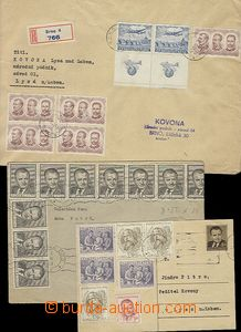 58192 - 1953 3x entire from monetary reform, 1x CDV, 1x ordinary. le