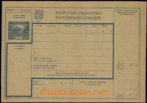 58200 - 1920 CPP4B Postal dispatch-note, Czech - German variety, wel