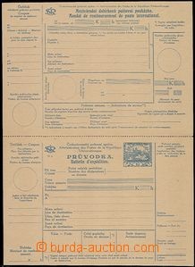 58204 - 1920 CDP9  International C.O.D. dispatch-note, perf 11½