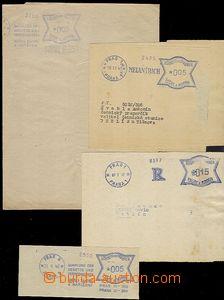 58231 - 1941-44 sestava 4ks dopisů s OVS motýlek v modré barvě,