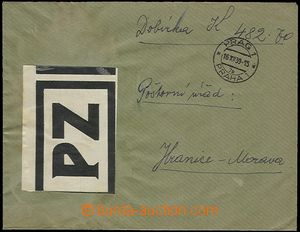 58233 - 1939 POSTAL GOODS  service letter with C.O.D., mounted label