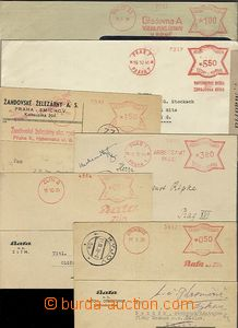 58261 - 1939-44 comp. 6 pcs of letters with meter stmp butterfly, Ot