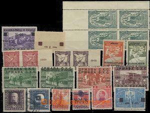 58276 - 1919-21 sestava 22ks známek, obsahuje různé speciality, n