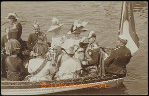 58280 - 1911 reálfoto generality při spouštění lodi S.M.D. Viri
