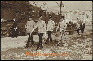 58282 - 1911 reálfoto důstojníků u příležitosti spouštění