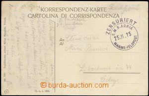 58297 - 1915 S.M.S. ADRIA, round black postmark  Marine - Feldpost (