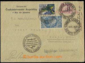 58310 - 1935 BRAZIL  air-mail letter with Zeppelin franking i.a. Mi.