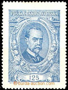 58358 -  Pof.140a, T. G. Masaryk 125h ultramarine, c.v.. 500CZK